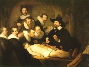 Autopsia por el pintor neerlandés Rembrandt