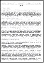 Objetivos de trabajo del Ministerio de Salud Pública de Cuba para el año 2018