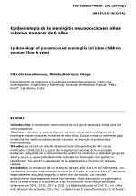 Epidemiología de la meningitis neumocócica en niños cubanos menores de 6 años