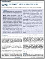 Suicidios e intentos de suicidio en adolescentes cubanos, 2011-2014