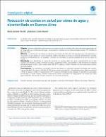 Reducción de costos en salud por obras de agua y alcantarillado en Buenos Aires