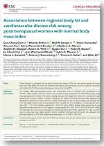 Grasa corporal regional y riesgo de enfermedad cardiovascular en mujeres posmenopáusicas con índice de masa corporal normal