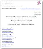 Planificación de los servicios de epidemiología en los hospitales