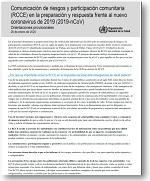 Comunicación de riesgos y participación comunitaria (RCCE) en la preparación y respuesta frente al nuevo coronavirus de 2019 (2019-nCoV)