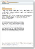 Comparative therapeutic efficacy of remdesivir and combination lopinavir, ritonavir, and interferon beta against MERS-CoV