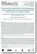 Evaluación de la calidad del servicio de abastecimiento de agua potable a partir de la percepción de usuarios: el caso en Cartago, Costa Rica
