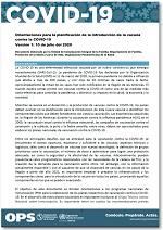 Orientaciones para la planificación de la introducción de la vacuna contra la COVID-19