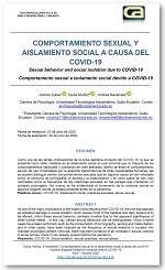 Comportamiento sexual y aislamiento social a causa del COVID-19