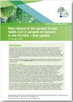 Risk related to spread of new SARS-CoV-2 variants of concern in the EU/EEA, first update – 21 January 2021
