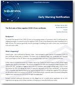 The illicit sales of false negative COVID-19 test certificates