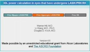 Calculo de LIO en cirugía refractiva previa